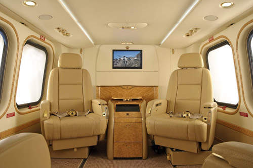 A configuration of the interior of the AW139 for VIP transport.