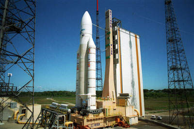 Kourou is the site from which the Ariane space rockets are launched.