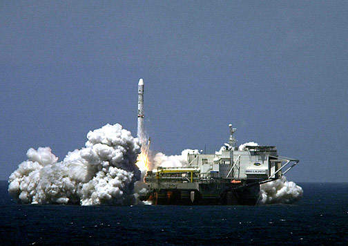 Sea Launch saw a rocket blast off in May 2001.