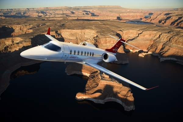 The Learjet 75 aircraft was unveiled at EBACE in May 2012.
