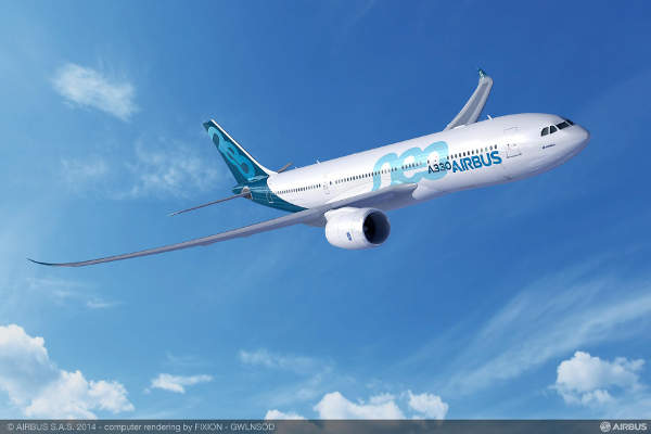 A rendition of the new A330-800neo from Airbus.