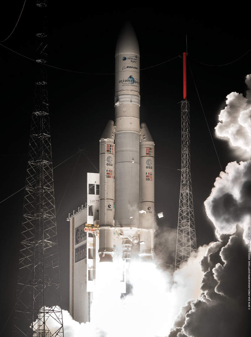 Intelsat 29e satellite was launched aboard Ariane 5 vehicle in January 2016.  Image: courtesy of Intelsat.