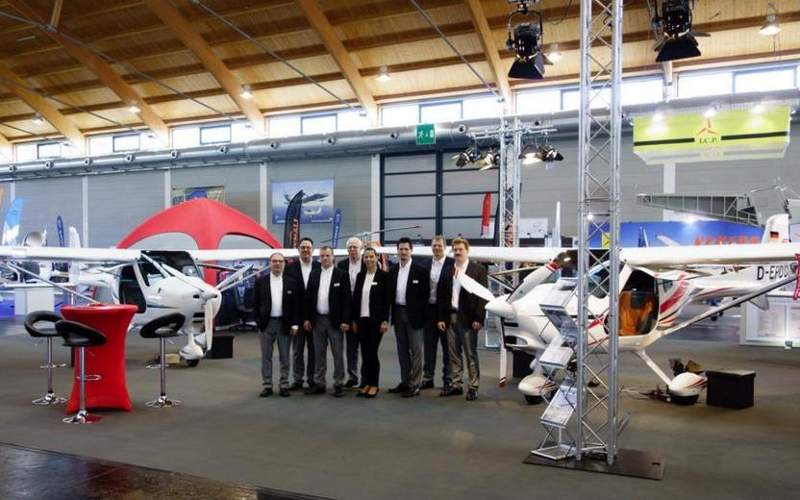 REMOS GXiS aircraft was displayed at AERO Friedrichshafen in Germany in April 2016. Image: courtesy of REMOS AG.