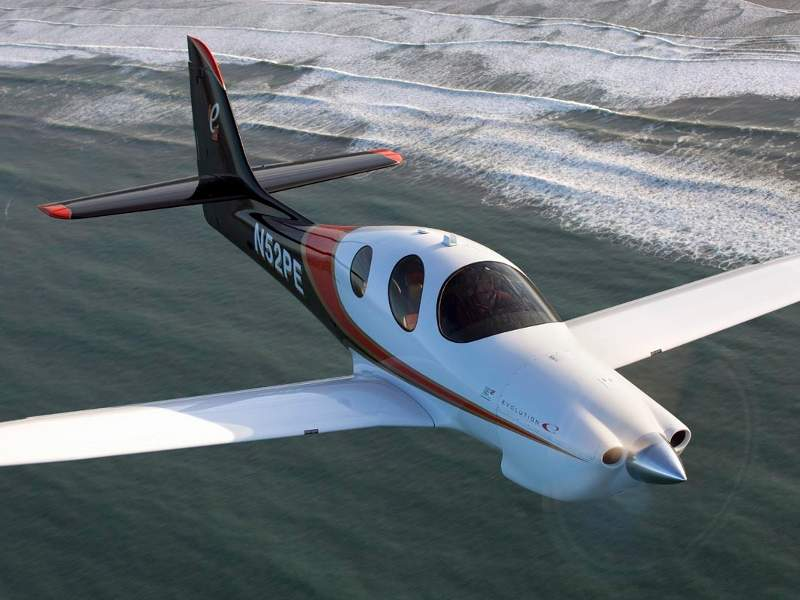 Evolution, a piston engine powered aircraft, was introduced in April 2016. Image: courtesy of Lancair.