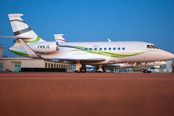 Dassault Falcon 2000S is a super mid-size business jet.
