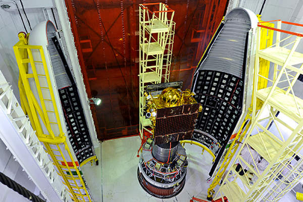 IRNSS-1A satellite was launched on 1 July 2013. Image courtesy of ISRO.