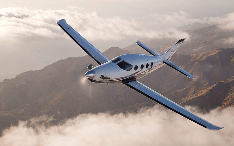 Epic E1000 is a six-seat light sport aircraft. Image: courtesy of Epic Aircraft, LLC.