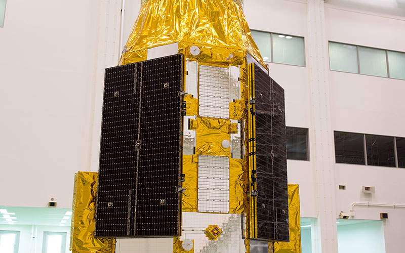 ASTRO-H satellite is expected to be launched from Tanegashima Space Centre in February 2016. Image: courtesy of Japan Aerospace Exploration Agency (JAXA).