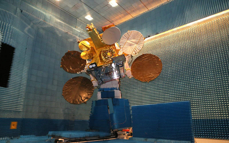 The European Data Relay System (EDRS) will include two nodes of geostationary orbit satellites. Image: courtesy of Airbus Defence and Space SAS.