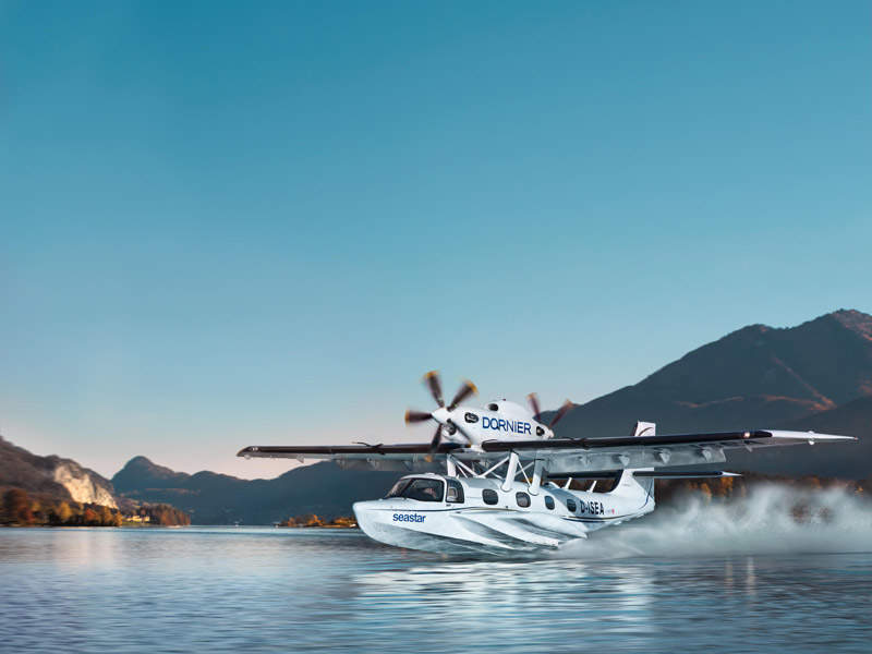 Seastar is an amphibious aircraft from Dornier Seawings . Image: courtesy of Dornier Seawings.