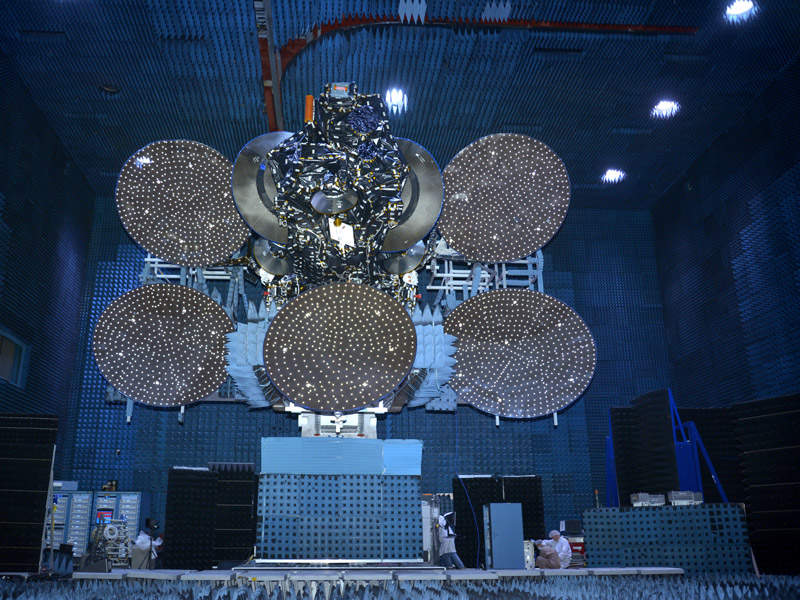 JCSAT-14 communication satellite will provide broadcast, data networks and mobility services. Image courtesy of Space System/Loral (SS/L).