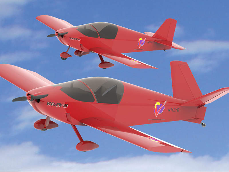 The Sonex Waiex-B aircraft was unveiled in April 2016. Credit: Sonex Aircraft.