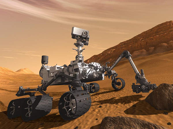Artist's impression of the NASA's Mars Science Laboratory Curiosity rover. Image courtesy of NASA/JPL-Caltech.