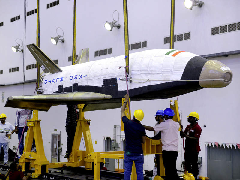 The first unmanned, two-stage-to-orbit (TSTO) reusable launch vehicle in India designed and developed by ISRO. Image: courtesy of Indian Space Research Organization (ISRO).