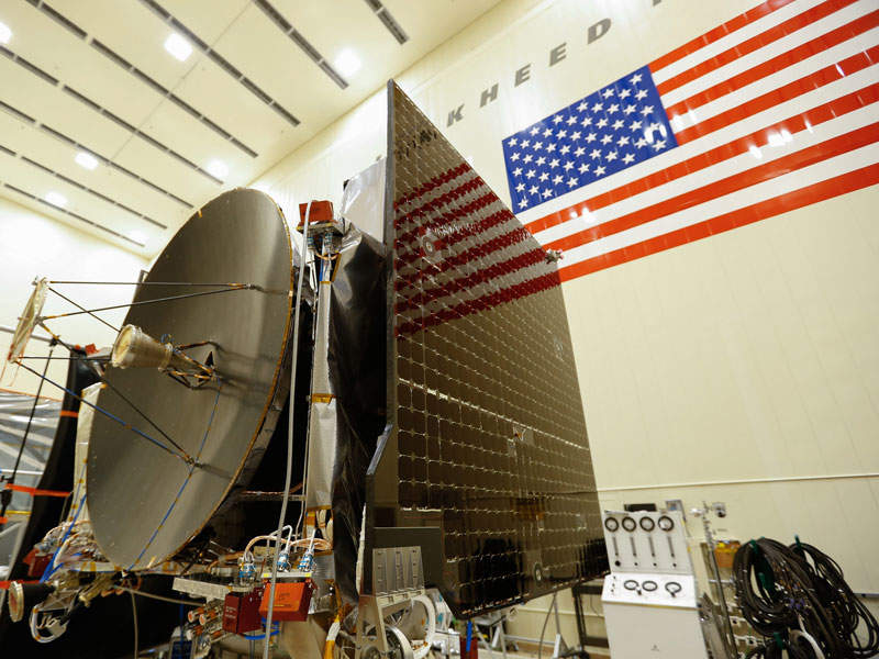 The OSIRIS-REx spacecraft will be launched from Kennedy Space Centre in September 2016. Image: courtesy of Lockheed Martin Corporation.