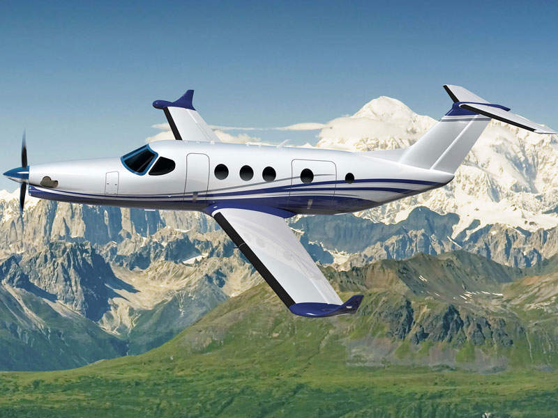 Cessna's Denali turboprop aircraft is being developed to compete in the single-engine turboprop market. Image courtesy of Textron Aviation.