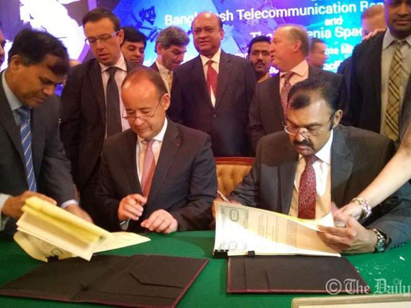 The Bangabandhu 1 satellite is the first geostationary communications satellite of Bangladesh. Image courtesy of Thales Group.