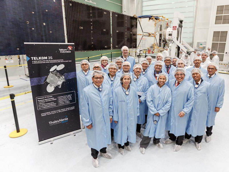Telkom-3S satellite was launched on 14 February 2017. Image: courtesy of Thales Alenia Space/Master Image Programmes.