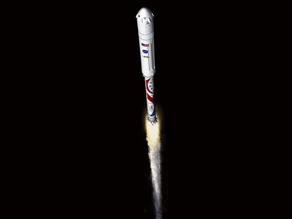 Liberty is a new commercial space transportation system intended to launch humans into low Earth orbit. Image courtesy of Alliant Techsystems Inc.