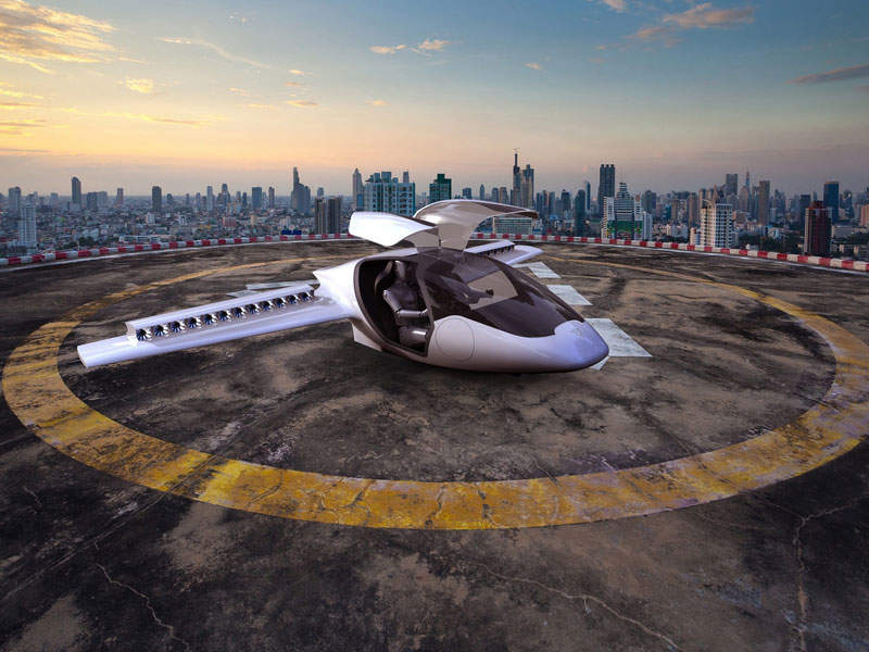 Lilium Jet is a vertical take-off and landing (VTOL) aircraft. Image courtesy of Lilium GmbH.