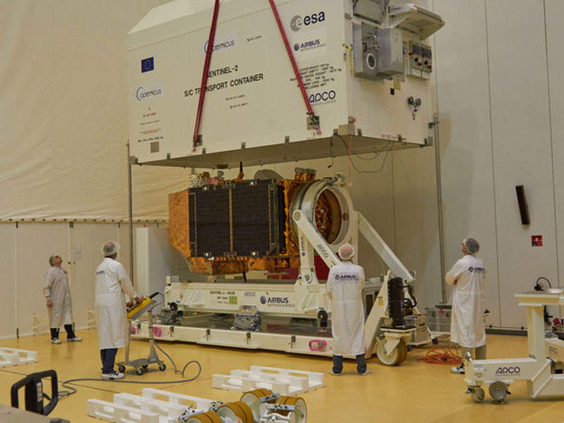 Sentinel-2B satellite was launched in March 2017. Image: courtesy of ESA.