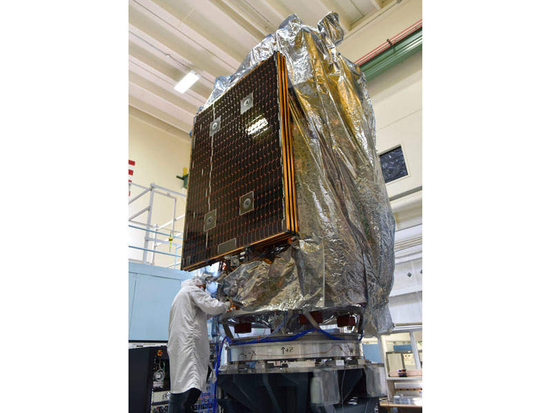NOAA-20 is a new-generation polar-orbiting operational environmental satellite. Image courtesy of National Oceanic and Atmospheric Administration (NOAA).