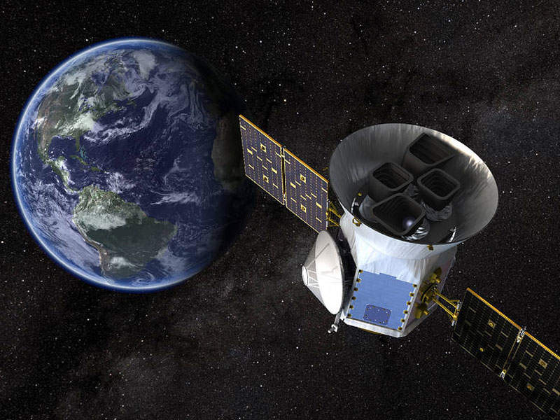 Transiting Exoplanet Survey Satellite (TESS) is designed to find exoplanets orbiting the brightest stars in the solar system. Image: courtesy of Nasa's Goddard Space Flight Center.