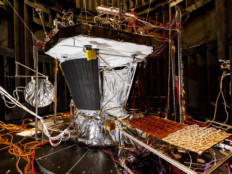 The Parker Solar Probe spacecraft is expected to be launched in July 2018. Image: courtesy of Nasa/JHUAPL.