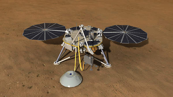 InSight is a proposed spacecraft on Mars by National Aeronautic and Space Administration (NASA). Image courtesy of NASA/JPL-Caltech.