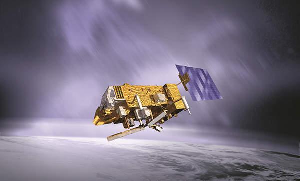 Artist's impression of MetOp-B satellite. Image courtesy of EUMETSAT.