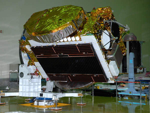 GSAT-10 is the heaviest communication satellite designed and developed by ISRO to date. Image courtesy of ISRO.