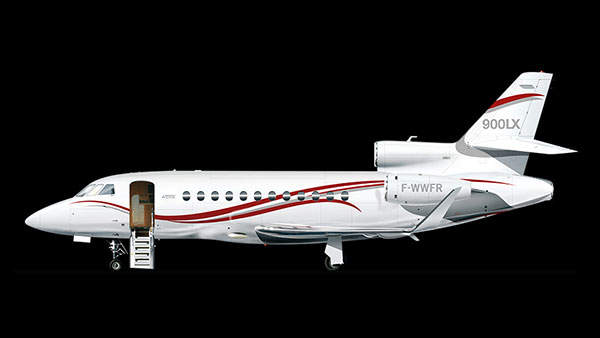 The Falcon 900LX variant replaces the Falcon 900EX.