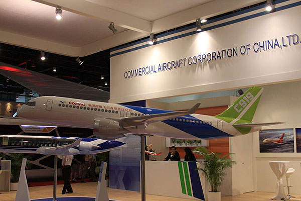 The C919 is a commercial passenger aircraft being developed by Commercial Aircraft Corporation of China (COMAC). Image courtesy of Kentaro Iemoto.