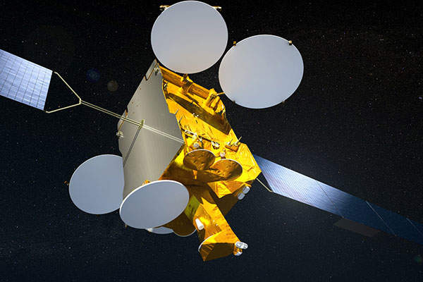 An artistic rendering of ASTRA 2E satellite. Image courtesy of SES.