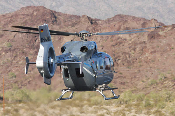 The H145 helicopter features two rear hinged clam-shell doors for EMS missions. Image copyright of Eurocopter.