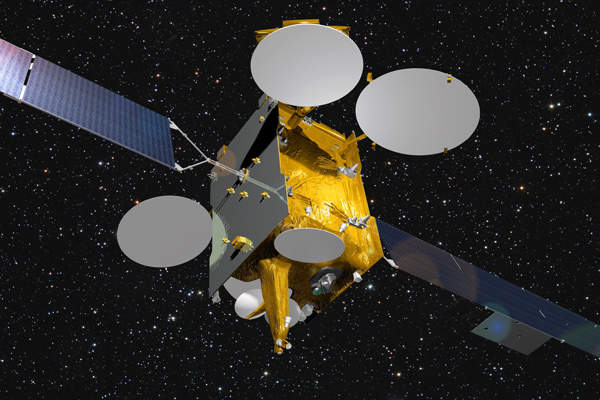 Artist's rendering of Eutelsat-9B satellite. Image courtesy of Eutelsat Communications.