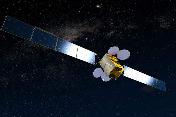 Artist's rendering of the MEASAT-3b satellite. Image courtesy of MEASAT Satellite Systems.