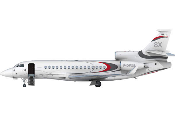 The Falcon 8X aircraft was unveiled in May 2014. Image courtesy of Dassault Aviation.