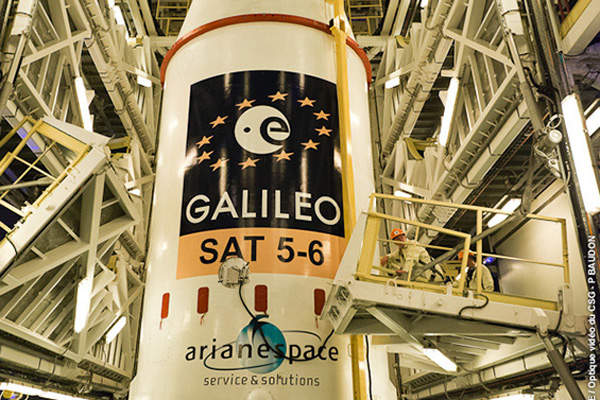 Galileo SAT 5 is the first full operational capability (FOC) satellite in a series of 22 proposed FOC satellites under the Galileo project. Image courtesy of Arianespace.