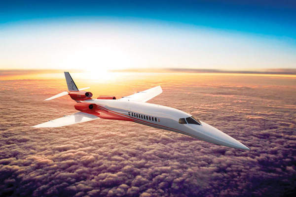 Aerion AS2 is the first business jet in the family of Supersonic Business Jets (SBJ) designed and manufactured by Aerion Corporation. Image: courtesy of Aerion Corporation.