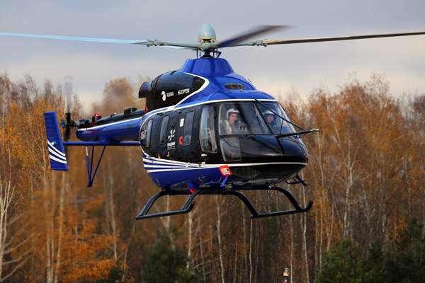 The Ansat commercial helicopter obtained ARIAC certification in December 2014. Image courtesy of Russian Нelicopters JSC.