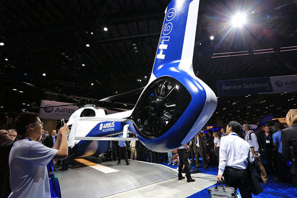 Airbus Helicopters unveiled the H160 twin-engine helicopter at the Heli Expo tradeshow. Image courtesy of Airbus Helicopters.