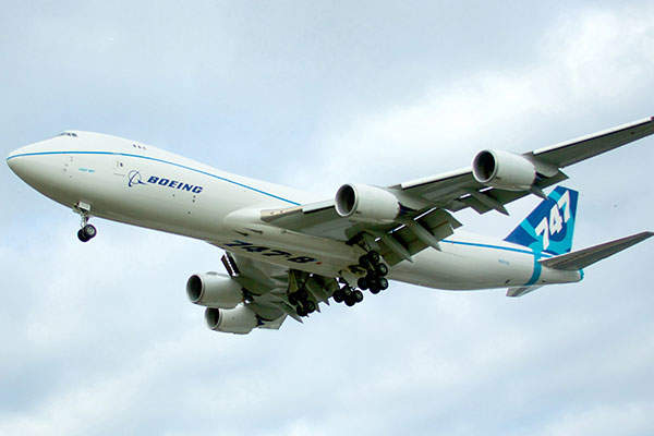 Boeing 747-8F is the freighter variant of the 747-8 jet aircraft family. Image: courtesy of Pat Bell.