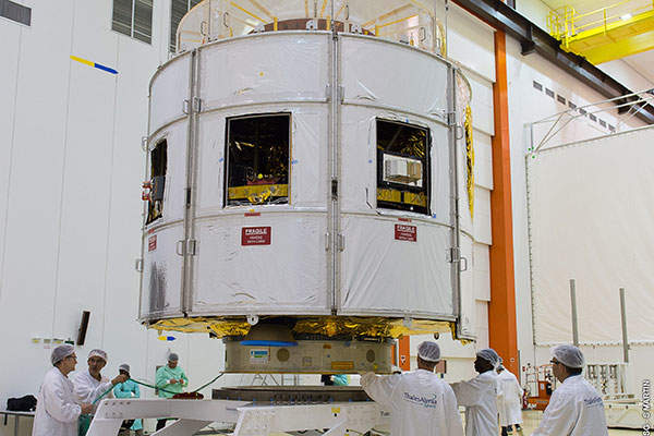 The MSG-4 satellite is scheduled to be launched on 8 July 2015. Image: courtesy of EUMETSAT.