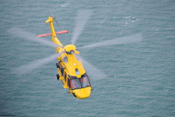 H175 is a super-medium, twin-engine helicopter meant for offshore, search and rescue (SAR), and emergency medical services. Image courtesy of Airbus Helicopters.