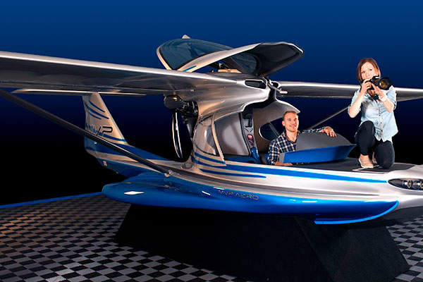 Artist's rendering showing the MVP Aero Model 3 two-seat, amphibious aircraft. Image courtesy of MVP Aero.