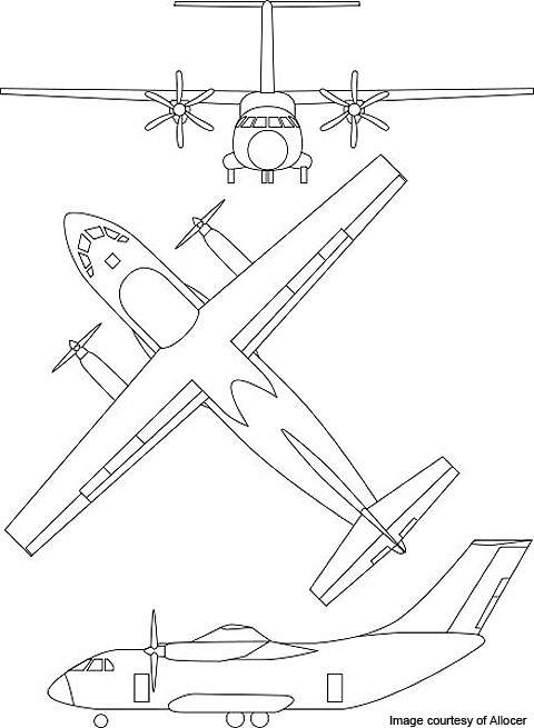 Design sketches of the IL-112.
