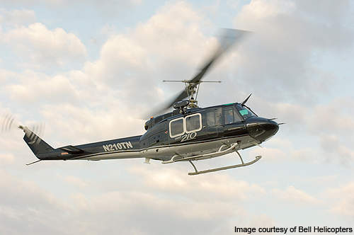 Bell 210 performing its maiden flight.