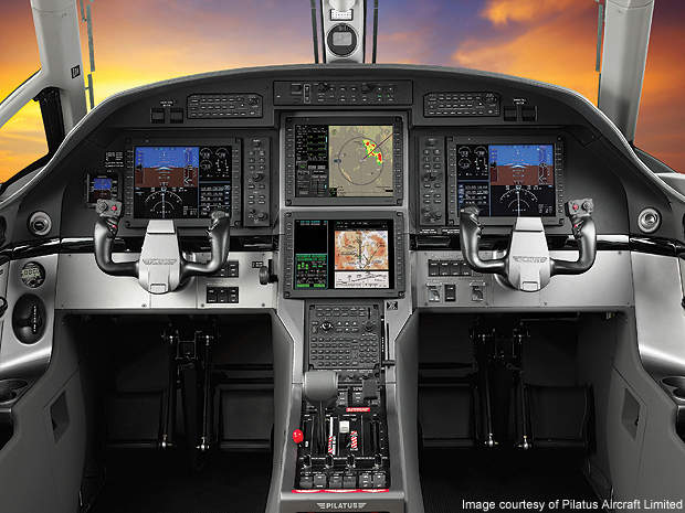 The PC-12NG cockpit.