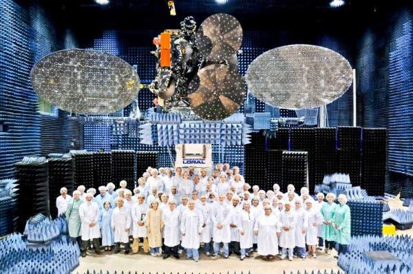 AsiaSat7 was designed and built by Space Systems/Loral (SS/L). Image courtesy of Asia Satellite Telecommunications Company.